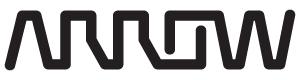 Arrow logo - worm, web, black, 300 px